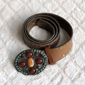 CARLISLE Stone Studded Belt Made In Italy